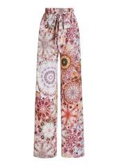 Alexis - Women's Solano Printed Straight-Leg Pants - Pink/blue - Moda Operandi