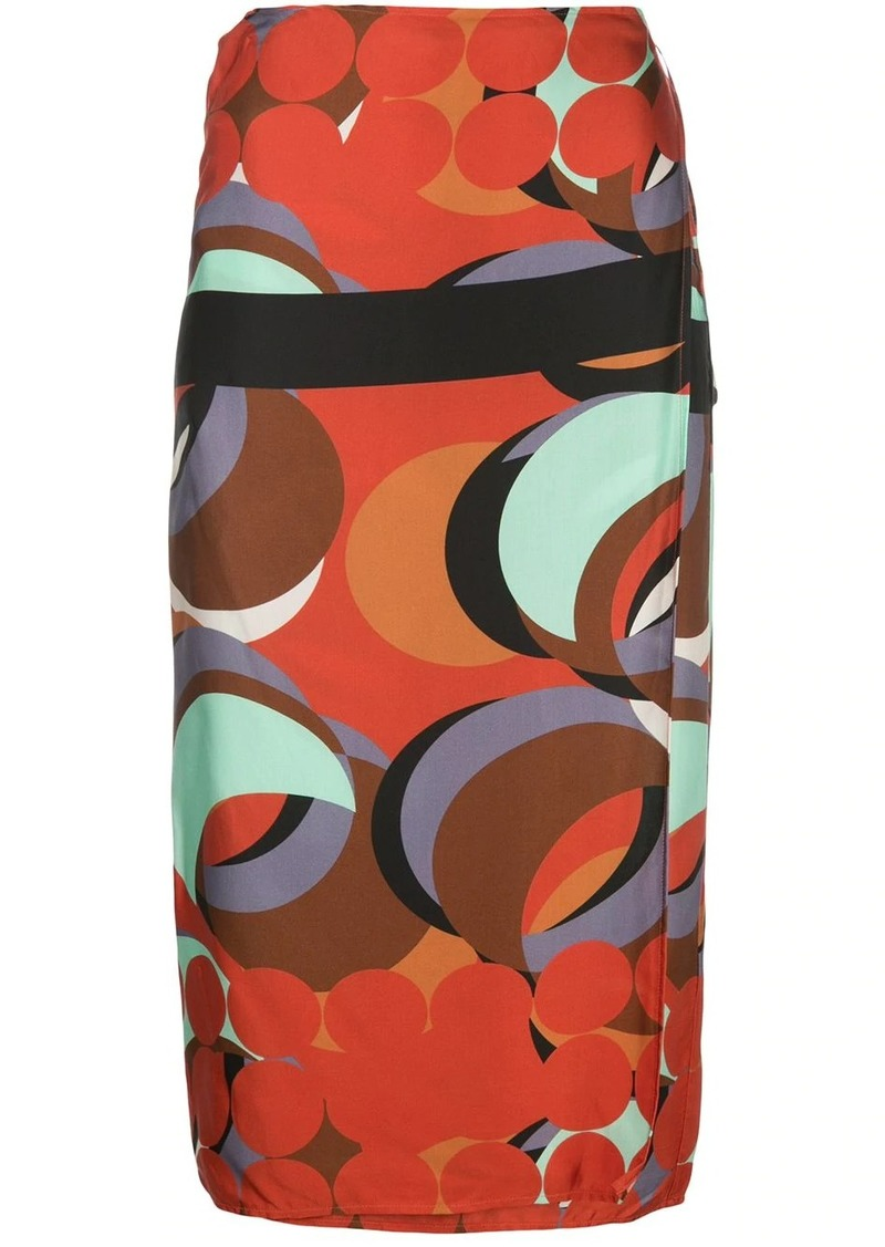 Alexis red eclipse wrap skirt