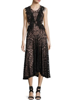 Alexis Aldridge Lace Midi Dress