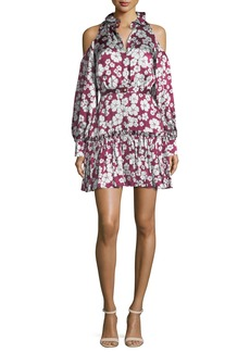 Alexis Audrina Floral-Print Cold-Shoulder Dress