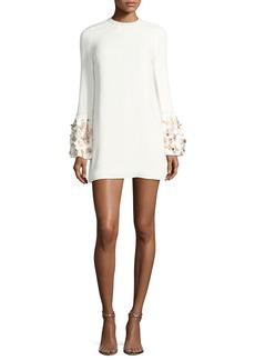 Alexis Bettina Embellished A-Line Crepe Dress