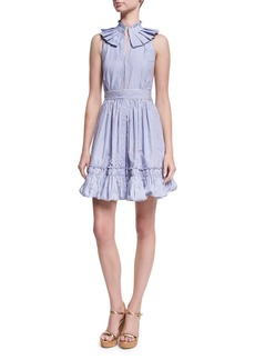 Alexis Briley Striped Poplin Mini Dress