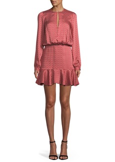 Alexis Coretti Printed Flounce Mini Dress