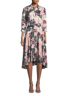 Alexis Dacio Button-Front Floral High-Low Dress