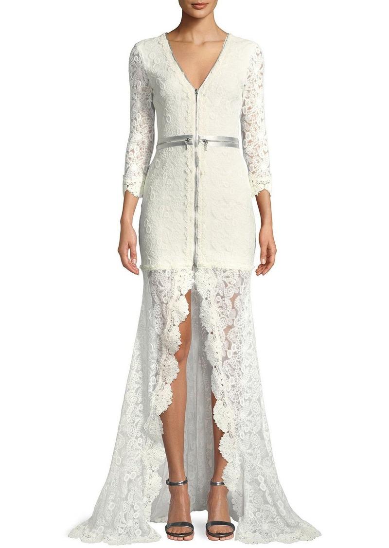 Alexis Alexis Finola Lace Zip-Front Gown Now $660.00