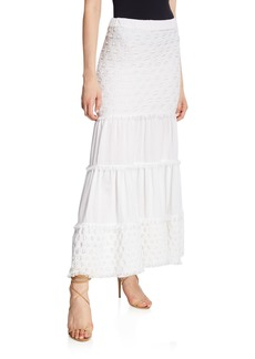 Alexis Geras Tiered Cotton Maxi Skirt