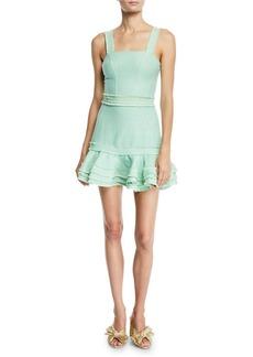 Alexis Judith Linen Sleeveless Ruffle Mini Dress