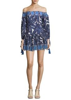 Alexis Laila Off-the-Shoulder Printed Short Dress