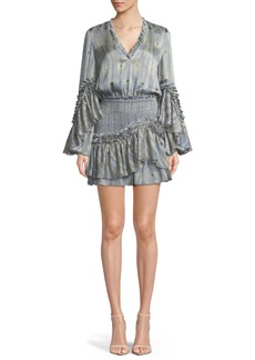 Alexis Leannie Ruffle Long-Sleeve Mini Dress