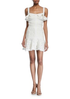 Alexis Linzi Lace Ruffle Mini Dress