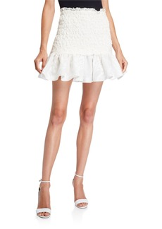Alexis Lotus Cloque Flounce Skirt