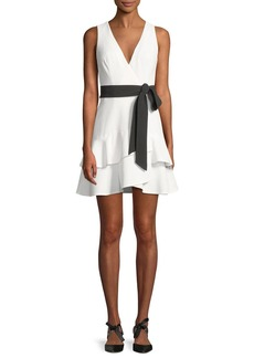 Alexis Olena Sleeveless Belted Flounce Mini Dress
