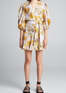 Alexis Pasina Floral-Print Belted Dress