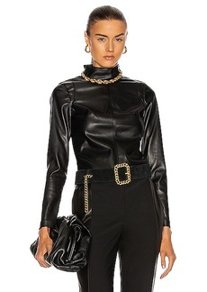 Alexis Peri Vegan Leather Top