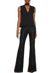 Alexis Woman Agata Guipure Lace Flared Pants Black