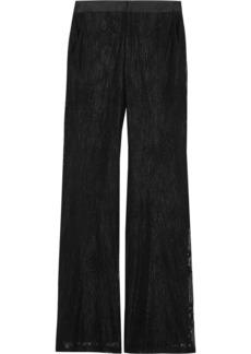Alexis Woman Agata Guipure Lace Flared Pants Black