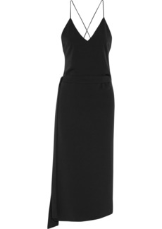 Alexis Woman Analia Crepe Wrap Midi Dress Black
