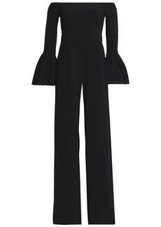 Alexis Woman Astoria Off-the-shoulder Crepe Jumpsuit Black