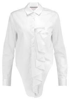 Alexis Woman Kinley Ruffled Cotton-poplin Shirt White