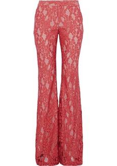 Alexis Woman Lace Flared Pants Papaya