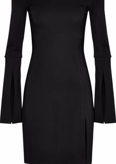 Alexis Woman Off-the-shoulder Ponte Mini Dress Black