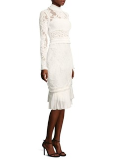 Alexis Anabella Ruched Lace Midi Dress