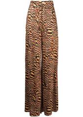 Alexis animal-print trousers