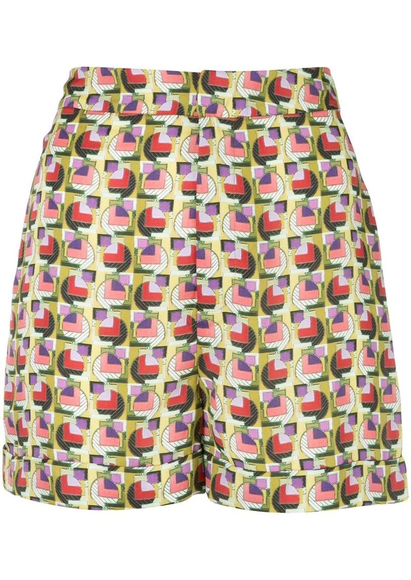 Alexis Aniqa geometric-print shorts