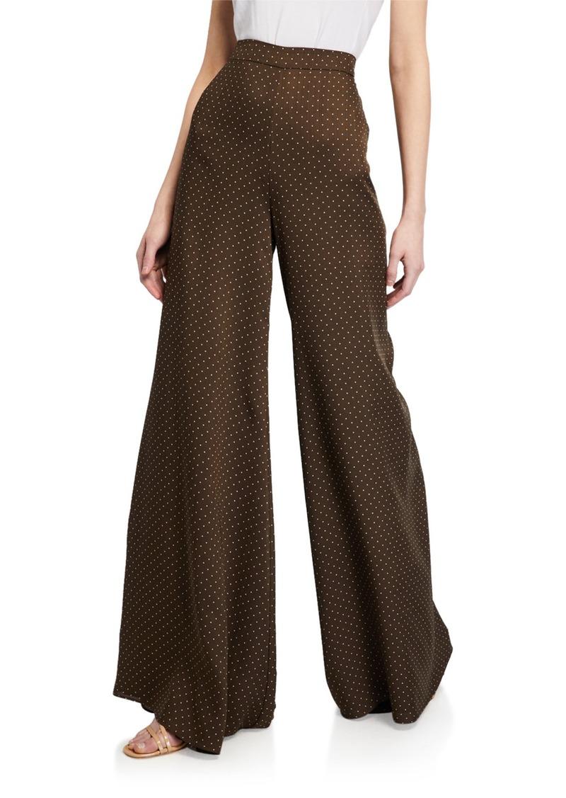 Alexis Antonin Printed Wide-Leg Pants