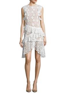 Alexis Arleigh Sleeveless Floral Lace Ruffle Dress
