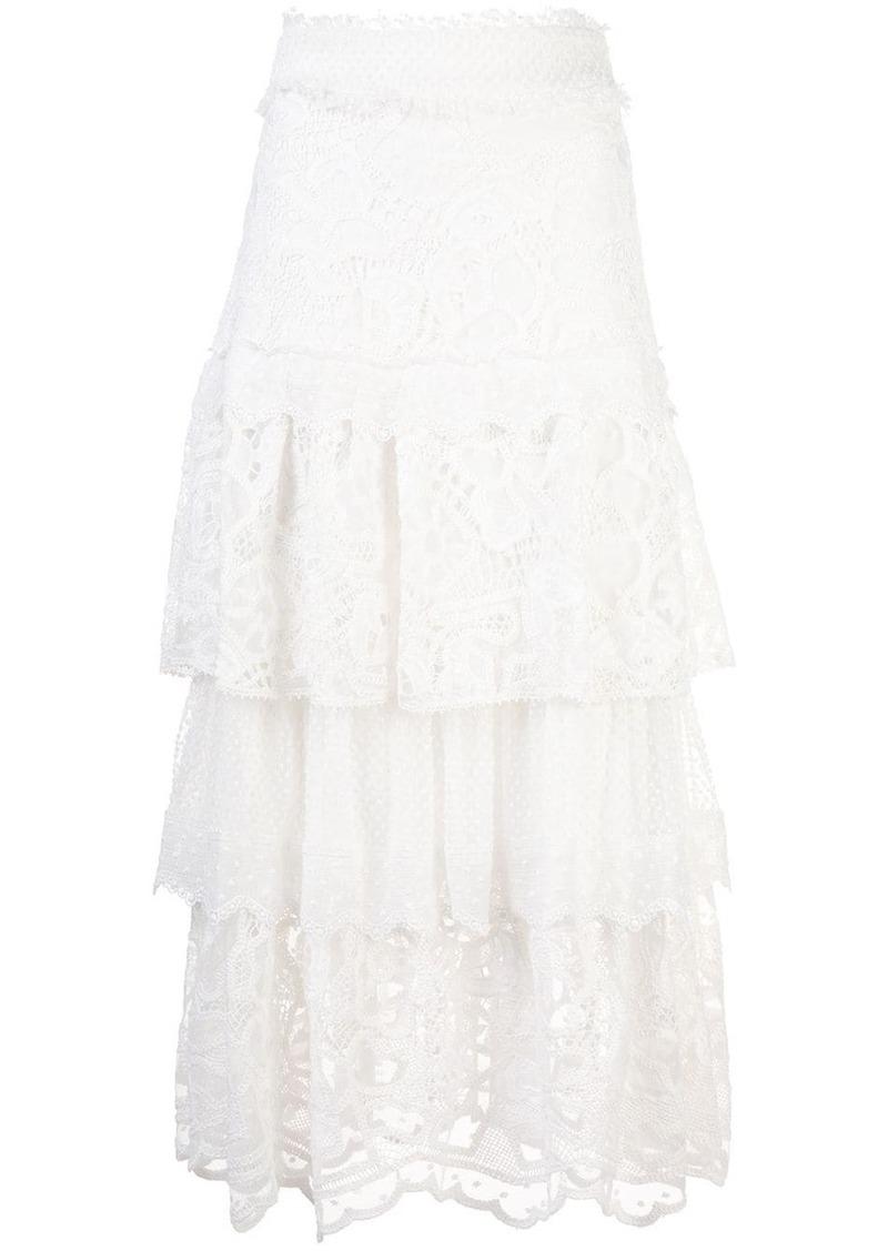 Alexis Atropos crochet tiered skirt