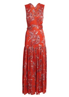 Alexis Belaya Floral Maxi Wrap Dress