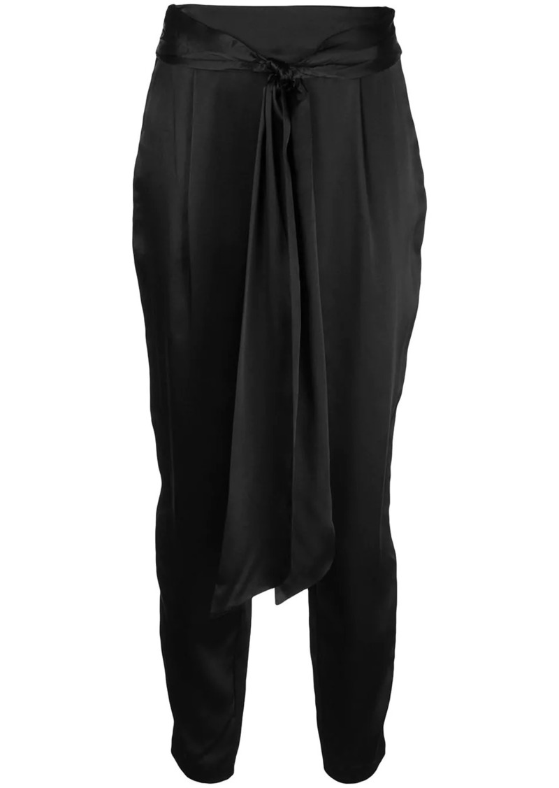 Alexis belted high waisted trousers