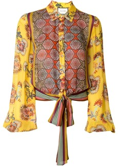 Alexis Betony tie blouse