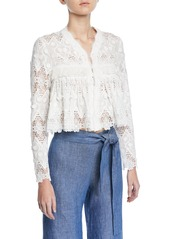 Alexis Betrice Long-Sleeve Lace Jacket
