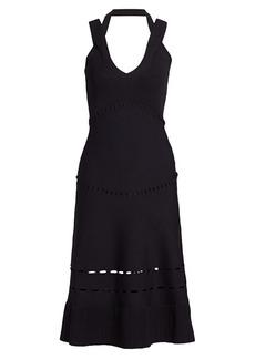 Alexis Betti Crossover Strap Knit Midi Dress