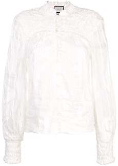 Alexis Bismarck embroidered blouse