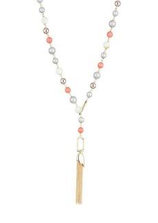 Alexis Bittar 10K Gold Beaded Lariat Necklace