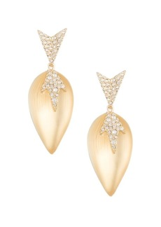 Alexis Bittar 10K Gold Lucite Crystal Drop Earrings