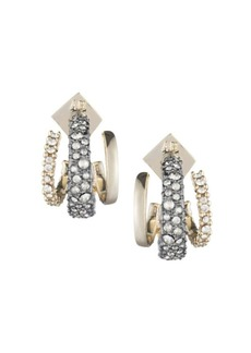 Alexis Bittar 10K Gold-Plated & Crystal-Encrusted Floating Orbit Post Earrings