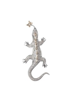 Alexis Bittar 10K Goldplated & Amethyst Crystal Lizard Pin