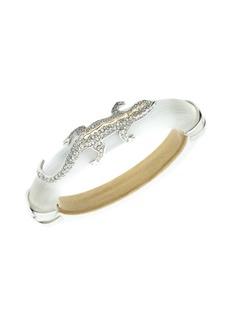 Alexis Bittar 10K Goldplated & Crystal Encrusted Lizard Hinge Bracelet