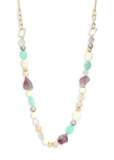 Alexis Bittar 10K Goldplated & Multi-Stone Beaded Necklace