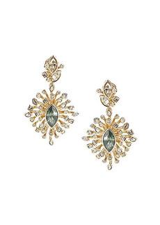 Alexis Bittar 10K Goldplated & Navette Crystal Burst Drop Earrings