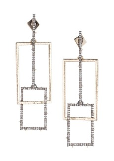 Alexis Bittar 10K Goldplated & Swarovski Crystal Encrusted Brutalist Link Post Earrings