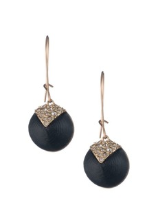 Alexis Bittar Swarovski Crystal Encrusted Lucite Origami Inlay Dangling Earrings