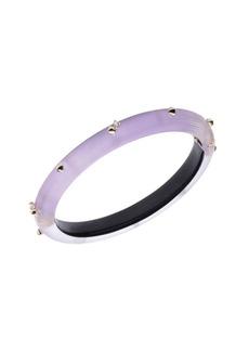 Alexis Bittar 10K Goldplated, Crystal & Lucite Hinge Bracelet