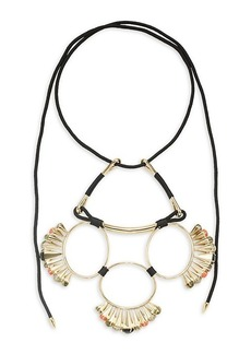 Alexis Bittar 10K Goldplated, Mother-Of-Pearl, Hematite & Faux Pearl Statement Necklace