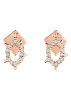 Alexis Bittar Alex Bittar Crystal Encrusted Spiked Stud Earrings
