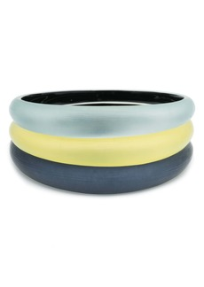 Alexis Bittar Alex Bittar Set of 3 Tapered Lucite® Bangle Bracelets
